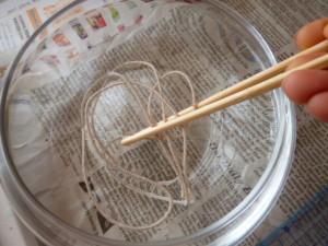 手づくりキャンドル 蝋引き 芯 作り方