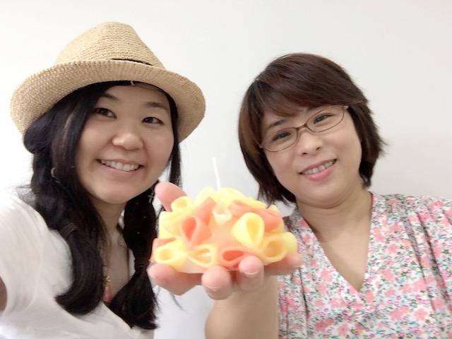 【ベーシックコース受講ご感想】「無心になってキャンドル作りに 集中できました」川上順子さん、専業主婦、40代(東京都)