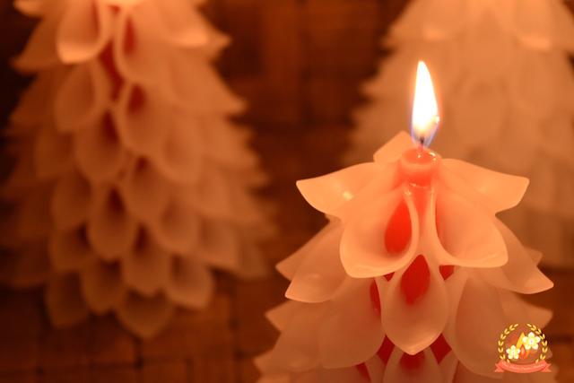 クリスマスツリーキャンドル,タイニージュエリーキャンドル