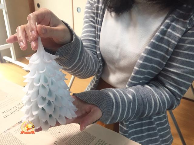 【クリスマスツリーキャンドル体験会ご感想】「簡単にできるのに見た目が華やかになる」S・Kさん、20代(神奈川県)