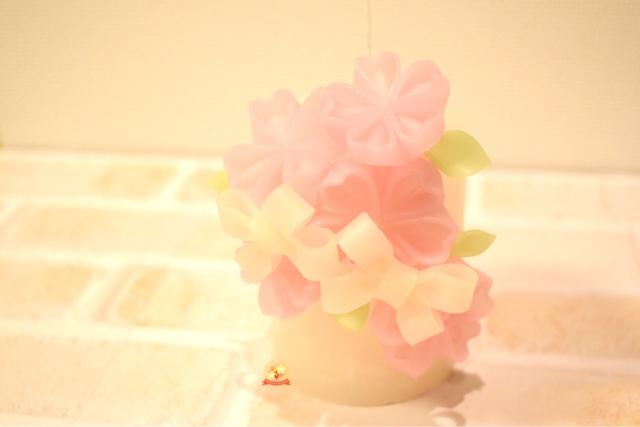 桜キャンドル,体験レッスン,タイニージュエリーキャンドル