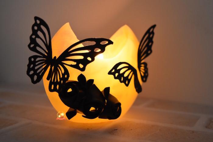 花蝶風月,キャンドル,切り絵