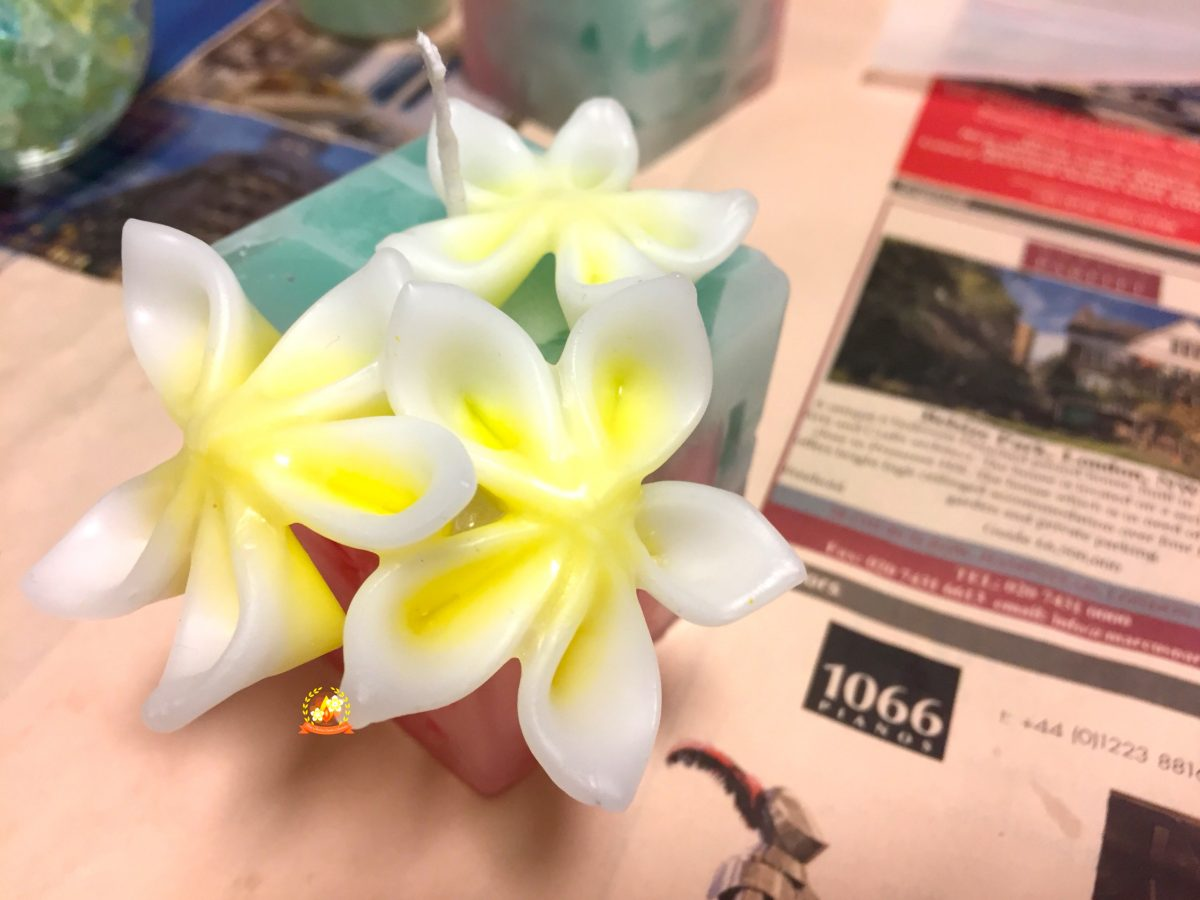 プルメリア,お花キャンドル