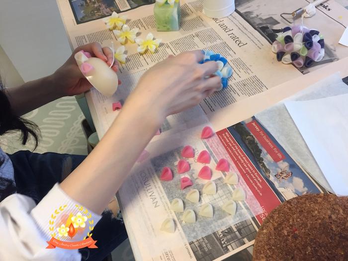 手作りキャンドル教室,体験レッスン,フラワーキャンドル