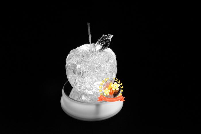 りんごジェルキャンドル,ジェルワックス ,手作りキャンドル