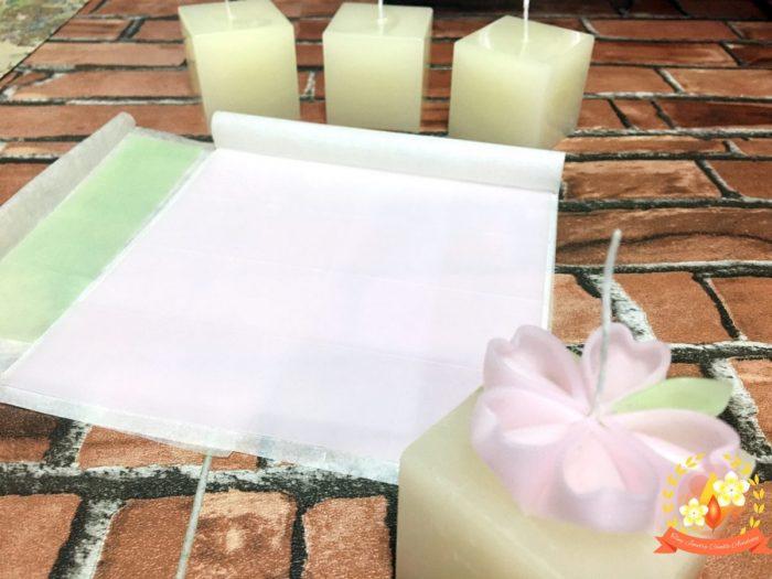 桜キャンドルキットセット,手作りキャンドル